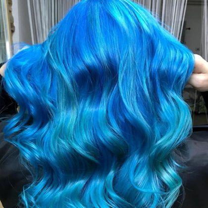 Capelli Blu Oceano colori diretti